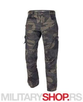 Lovačke pantalone tamnomaskirne Crambe darkcamo