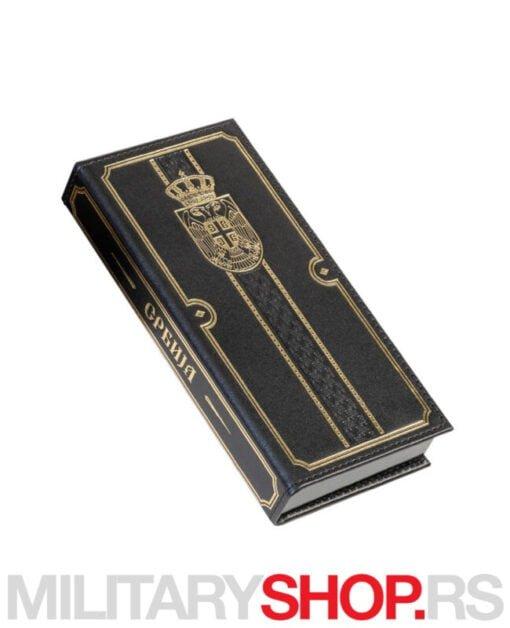 Elegantni set Srbija olovka i pero zlatni