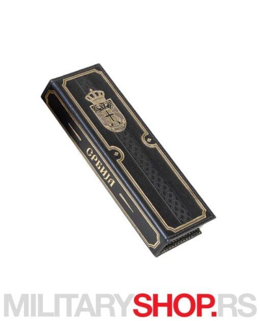 Elegantna olovka sa dvoglavim orlom zlatna