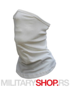 Bandana za vrat i lice bele boje