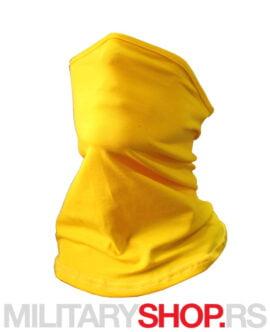 Moto bandana šal žute boje