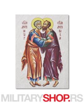Sveti Petar i Pavle ikona na kamenu