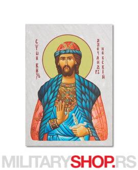 Sveti Aleksandar Nevski slika na kamenu