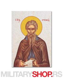 Sveti Kirijak Otselnik ikona na kamenu