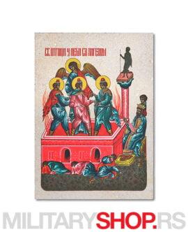 Sveti Otroci ikona na kamenu