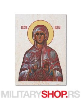 Ikona svete Petke na kamenu