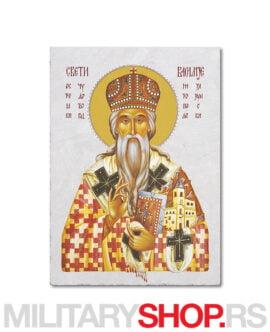 Sveti Vasilije Ostroški ikona na kamenu