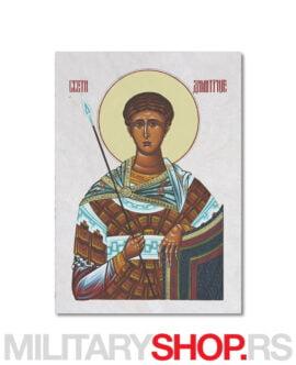 Sveti Dimitrije ikona na kamenu