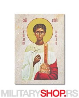 Ikona Svetog Stefana izrađena na kamenu