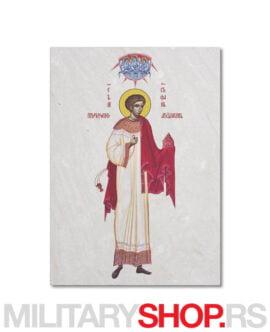 Sveti Stefan slika izrađena na kamenu