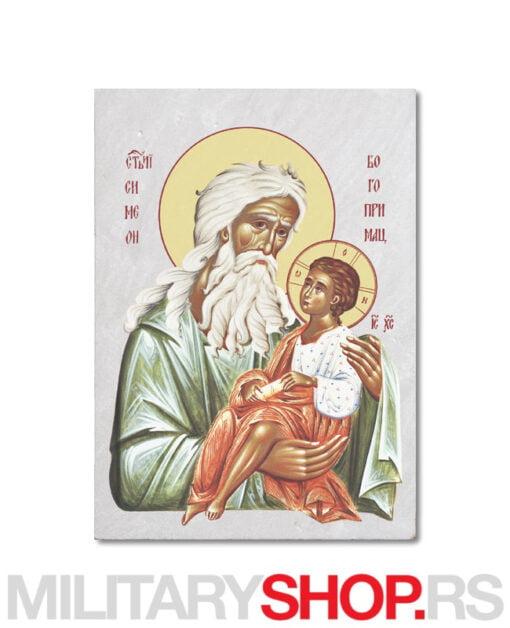 Ikona na kamenu Sveti Simeon Bogoprimac