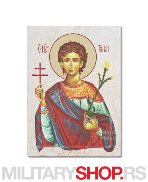 Sveti Trifun ikona na kamenu