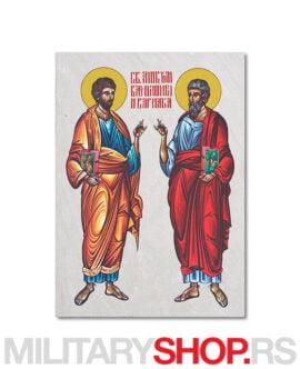 Sveti Vartolomej i Varnava ikona na kamenu