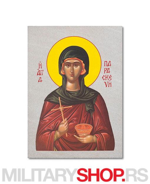 Sveta Petka ikona na kamenu