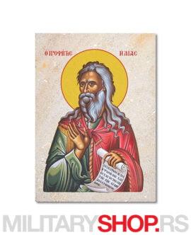 Sveti Ilija ikona na kamenu
