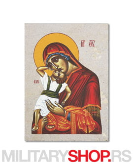 Bogorodica sa Hristom ikona na kamenu