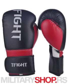 Rukavice za boks TFight Protekt 10oz crveno-crne