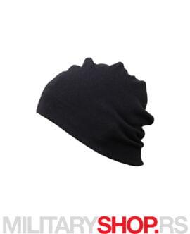 Pamučna zimska kapa crna boja