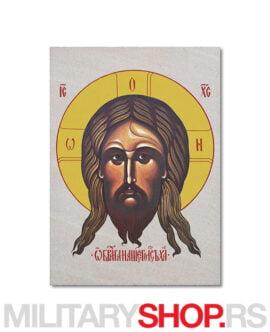 Nerukotvoreni obraz Hristov ikona na kamenu
