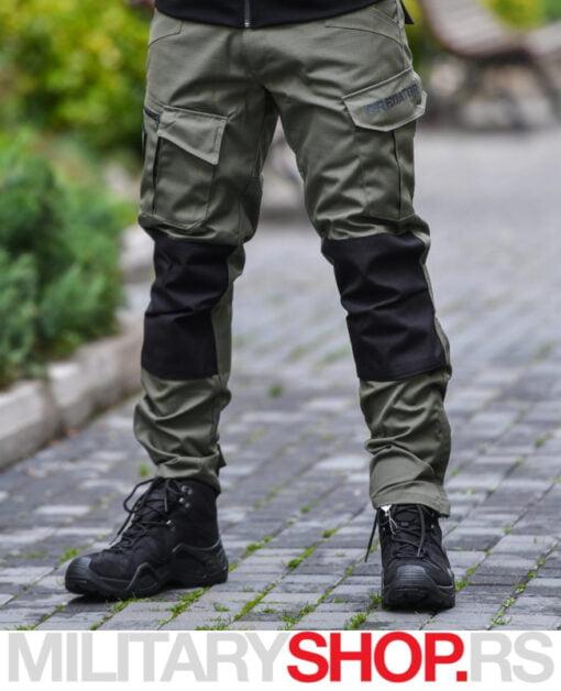 Taktičke pantalone crno-zelene boje Predator