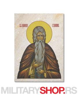 Sveti Alimpije Stolpnik ikona na kamenu