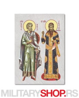 Sveti Mina i Stefan Dečanski ikona