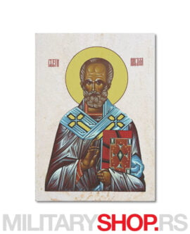 Sveti Nikola ikona na prirodnom kamenu