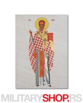 Ikona na kamenu Sveti Nikola