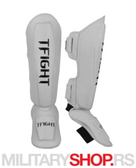 Štitnici za potkolenice beli TFight Techniko Shin Guards