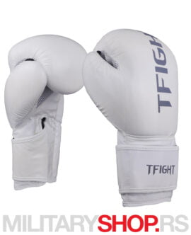 Bokserske rukavice bele TFight Protekt 10oz