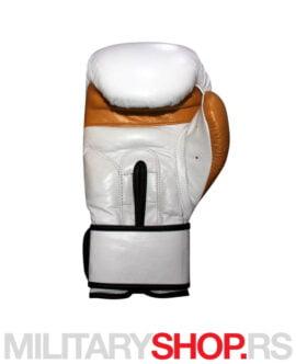 Kožne bokserske rukavice 12oz Ring White