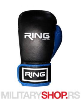 Bokserske rukavice kožne 12oz Ring plave