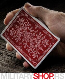Karte za igranje Monarch crvene