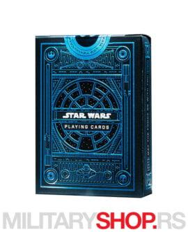 Karte za igranje Star Wars plave