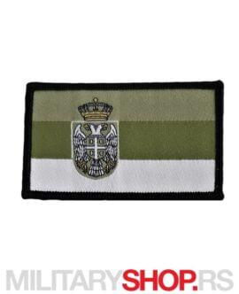 Prišivak Zastava Srbije Zeleni Tonovi Digitalni Vez