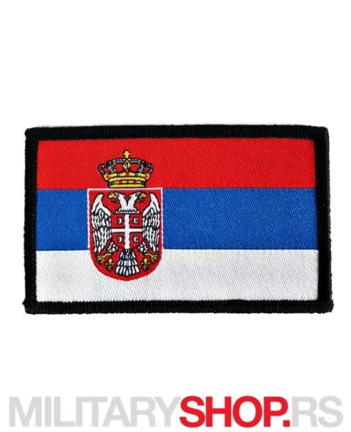 Amblem Zastava Srbije U Boji Digitalni Vez