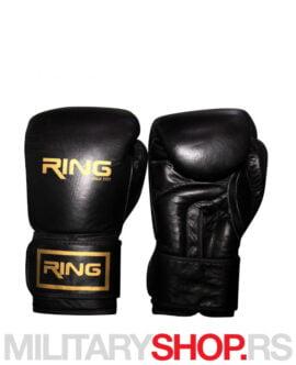 Kožne bokserske rukavice 12oz Ring Black