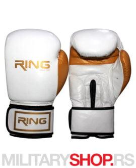 Bokserske rukavice 10oz Ring bela koža