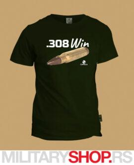 Zelena majica kalibar .308 Win Caprella