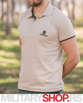 Polo majica Caprella bež-braon boje
