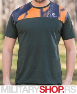 Majica sa fluo detaljima Caprella Camo-Orange