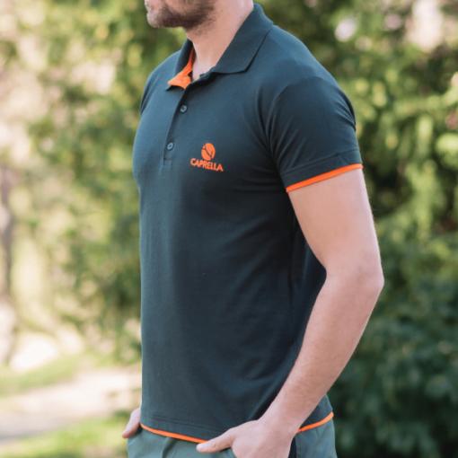 Lovačka polo majica Caprella Green-Orange