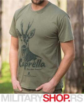 Lovačka tamnozelena majica srndać Caprella