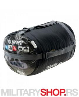 Vreća za spavanje mumija Hi-Tec Asked predstavalja praktičnu i durabilnu kampersku vreću. Ovo je model oblika mumije