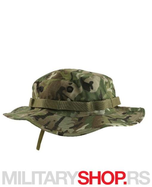 Platneni šešir maskirni KombatUK Boonie Hat izrađen je od mešavine pamuka i poliestera. Pamuk daje platnu dišuće karakteristike