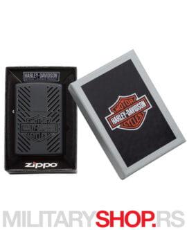 Crni upaljač Harley-Davidson ZIPPO