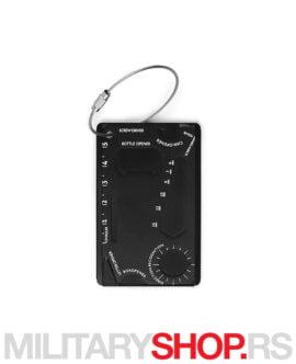 Multialat kartica crni Toolcard Pro Black
