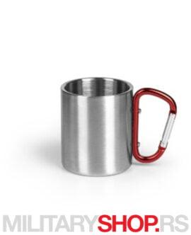 Aluminijumska čaša sa karabinjerom Hike 200ml