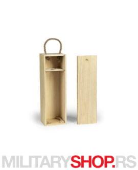 Drvena kutija za vino Bordo
