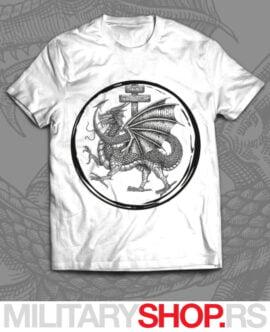 Majica bele boje Viteški red Zmaja